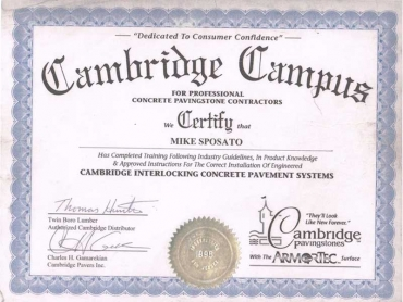 CERTIFICATE - CAMBRIDGE CAMPUS