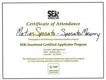 SEK - SUREBOND CERTIFIED APPLICATOR 2016