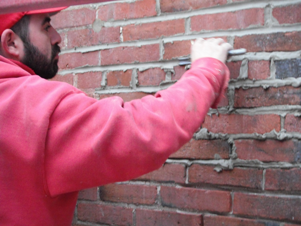 Tuck Pointing for All Mortar Joints on Porch Wall |Tuck Point Mortar Retaining Wall